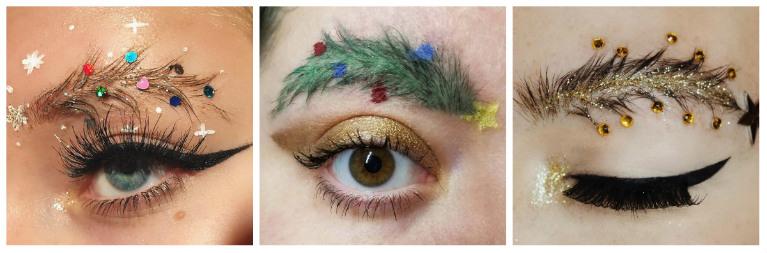 Идеи для новогоднего макияжа бровей