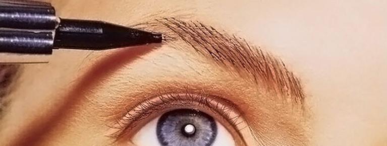 Красивая форма бровей волосковый метод thumbnail